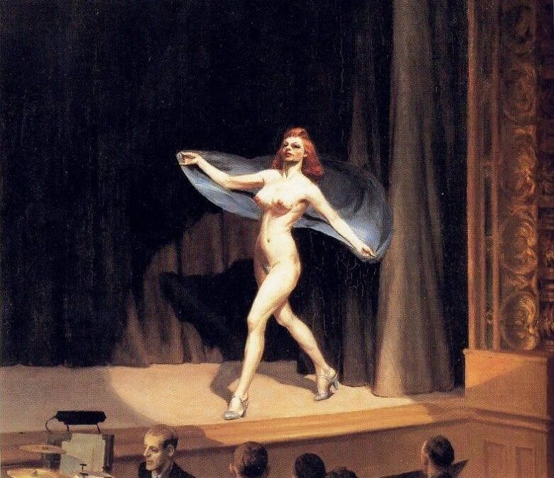 Girlie Show, 1941 by Edward Hopper