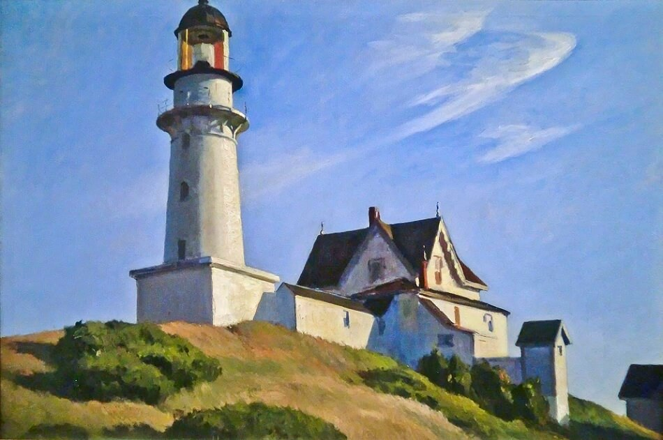 The Lighthouse at Two Lights, 1929 by Edward Hopper